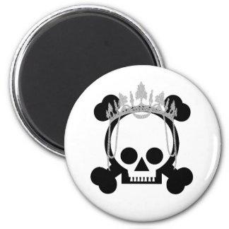 Princess Skulls 6 Cm Round Magnet