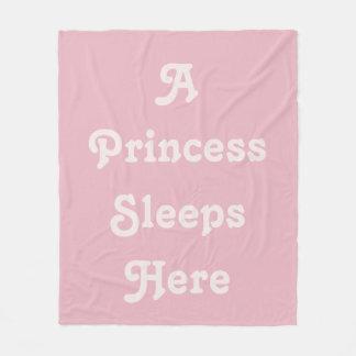 'Princess Sleeps Here' blanket