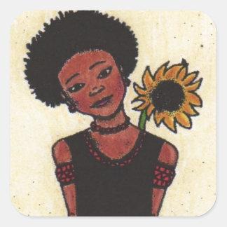 Princess Square Sticker