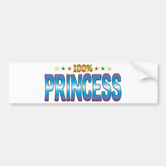 Princess Star Tag v2 Bumper Stickers