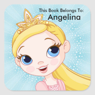 Princess Sticker, This Book Belongs To, Book Label