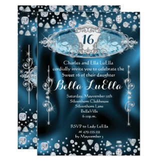 Princess Sweet 16 Bling Party Invitation