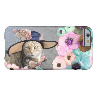 PRINCESS TATUS /ELEGANT CAT,BIG DIVA HAT AND ROSES BARELY THERE iPhone 6 CASE