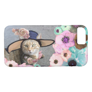 PRINCESS TATUS /ELEGANT CAT,BIG DIVA HAT AND ROSES iPhone 8/7 CASE