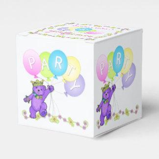 Princess Teddy Bear 7th Birthday Party Custom Wedding Favour Box
