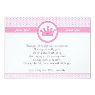 Princess Thank You Card Note