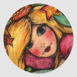 Princess & The Pea Classic Round Sticker