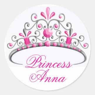 Princess Tiara Birthday Stickers