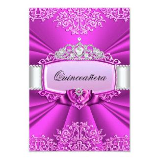 Princess Tiara & Damask Quinceanera Invitation