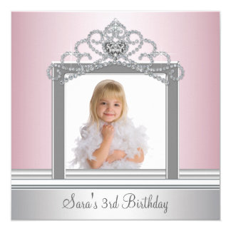 Princess Tiara Photo Princess Birthday Party Card