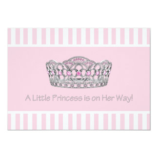 Princess Tiara Pink Princess Girl Baby Shower Card