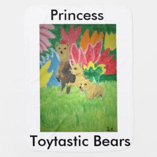 Princess Toytastic Bears Baby Blanket