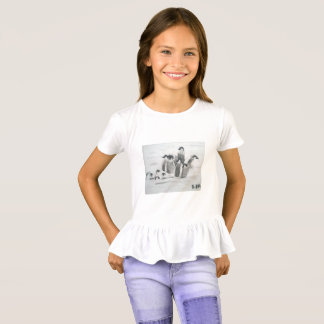 Princess Toytastic Penguin Girls' Ruffle T-Shirt