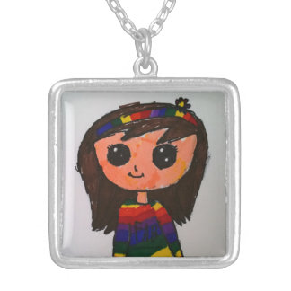 Princess Toytastic Silver Plated Square Necklace
