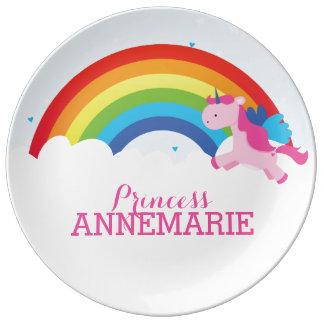 Princess Unicorn Porcelain Plate