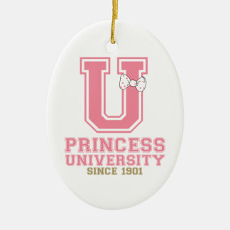 Princess University Ceramic Ornament