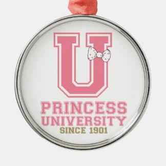Princess University Metal Ornament