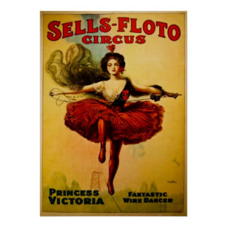 Princess Victoria Vintage Circus Poster
