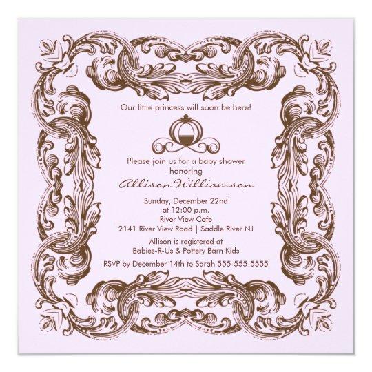 Princess Vintage Frame Baby Shower Invitation