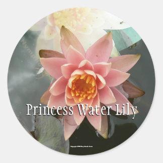 Princess Water Lily Round Sticker