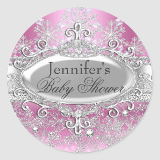 Princess Winter Wonderland Baby Shower Sticker