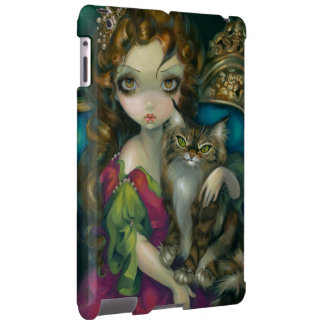 """""""Princess with a Maine Coon Cat"""" iPad Case"""