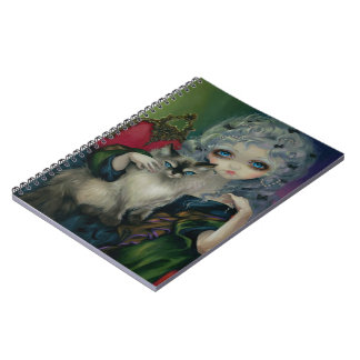 """Princess with a Ragdoll Cat"" Notebook"