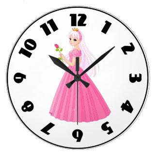 Princess With A Rose Clock