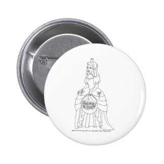 Princess With Flowers 6 Cm Round Badge