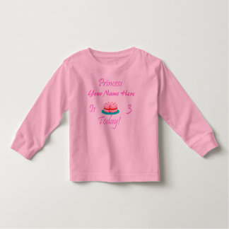 Princess (Your Name) is 3 Today Tees