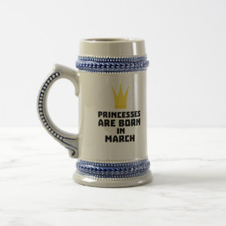 Princesses are born in MARCH Z1szr Beer Stein