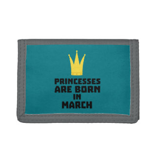 Princesses are born in MARCH Z1szr Trifold Wallet