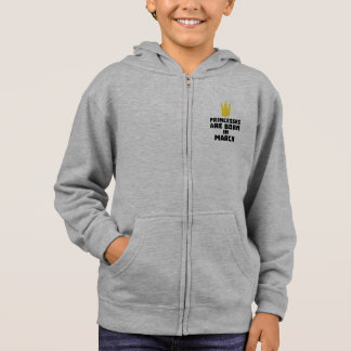 Princesses are born in MARCH Zhv17 Hoodie