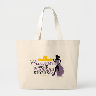 Princesses Wear Running Shoes Large Tote Bag