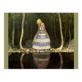 Princess's Reflection in the Pool Postcard