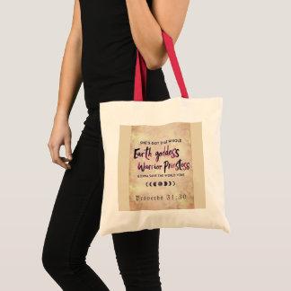 Princesss Warrior (Child of God) tote bag
