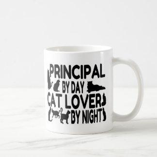 Principal Cat Lover Basic White Mug