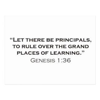 Principal / Genesis Postcard