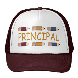 Principal Gift With Pencil Border Trucker Hat