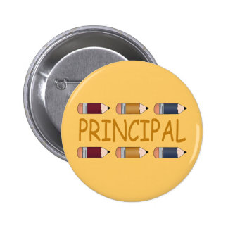 Principal Gift With Pencil Border Pinback Buttons