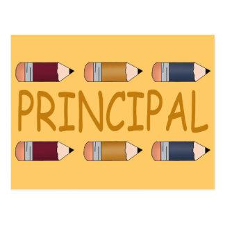 Principal Gift With Pencil Border Postcard
