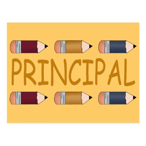 Principal Gift With Pencil Border Post Card