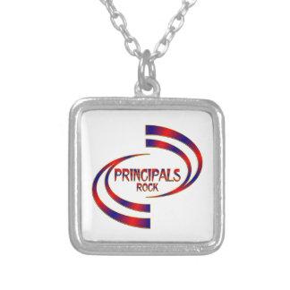 Principals Rock Silver Plated Necklace