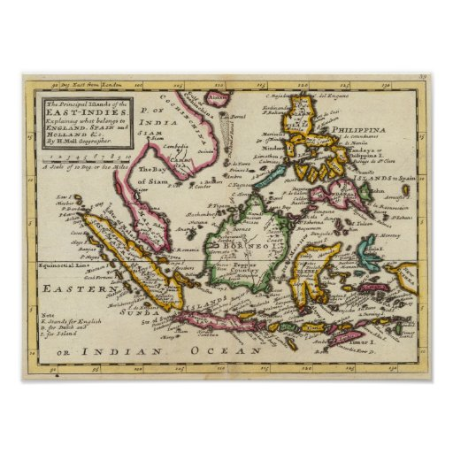 Prinicipal islands of the East Indies Poster