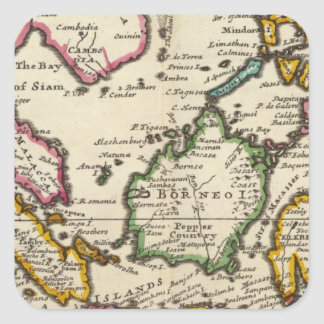 Prinicipal islands of the East Indies Square Sticker