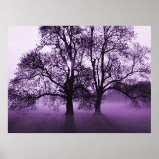 PRINT - 2 Big Trees Purple