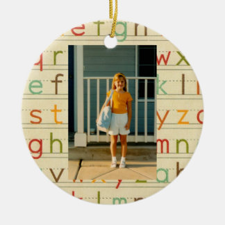 Print Alphabet First Day of School All Occasion Ceramic Ornament