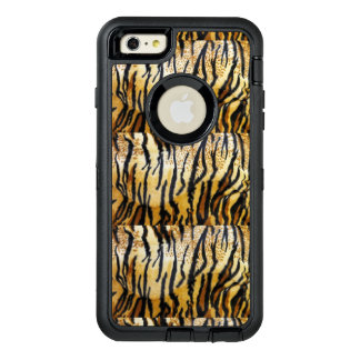 Print animal tiger leather OtterBox defender iPhone case