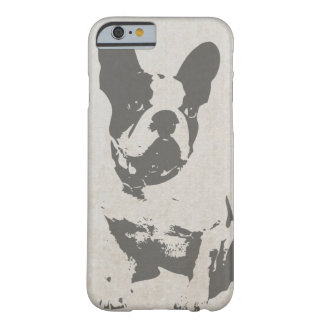 print French bulldog in vintage texture Barely There iPhone 6 Case