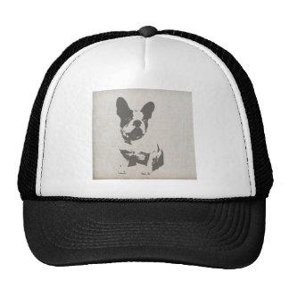 print French bulldog in vintage texture Trucker Hat